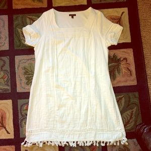 Dresses & Skirts - Lane Bryant white tasseled dress size 14